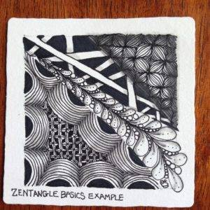 Beginner's Zentangle Tile